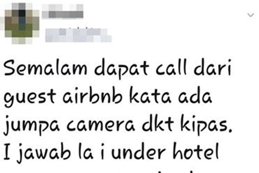 Betul Ke Ada Unit Airbnb Yang Dipasang Kamera Tersembunyi Sekodeng Guest??