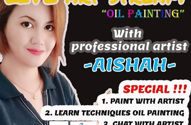 Sesi MyVXp Dengan Pelukis, Aishah Berjaya Ajar Ilmu Untuk Hasilkan Lukisan Minyak Hanya Dalam Satu Jam Setengah