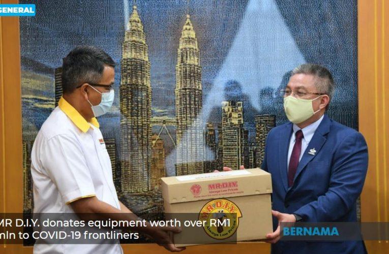 MR DIY Sumbang Alat Lawan COVID-19 Bernilai RM1.1 Juta Kepada KKM