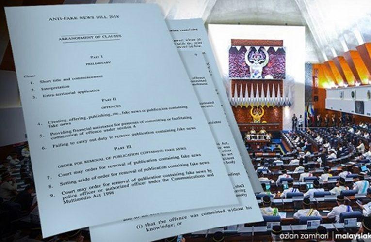 Cadangan Kembalikan Akta Antiberita Tidak Benar Masuk Parlimen