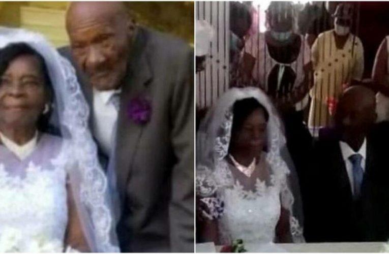 Nenek Berusia 91 Tahun Kahwin Dengan Pasangannya Berumur 73 Tahun