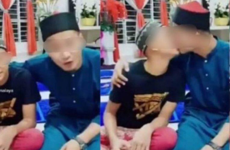 Polis Tahan Lelaki Yang Cium Budak Lelaki Dalam Video Tik Tok